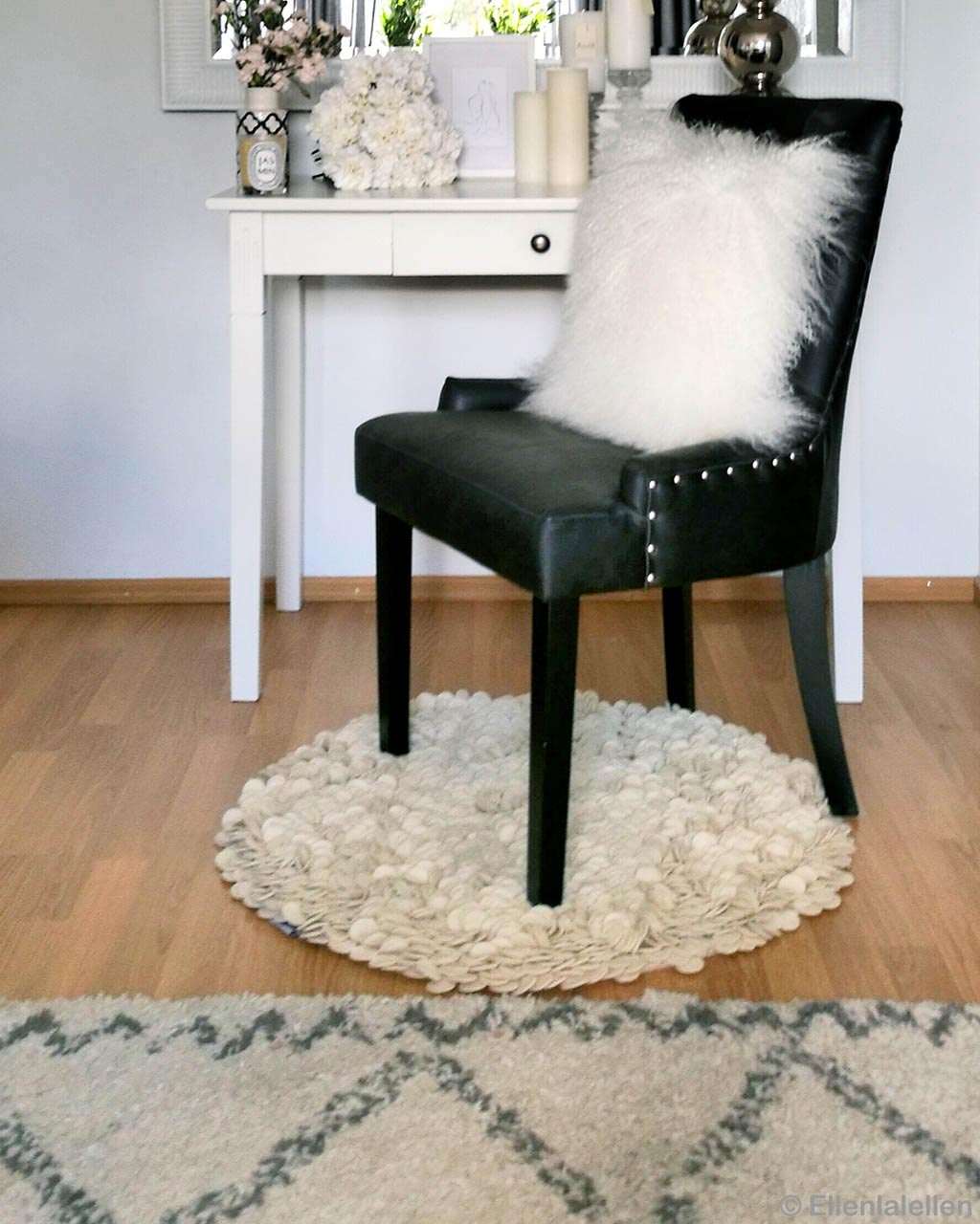 woolen black chair and fluffy cushion india modern round accent rugs