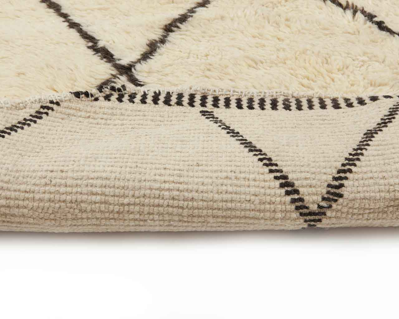 folded round rugs white moroccan 1