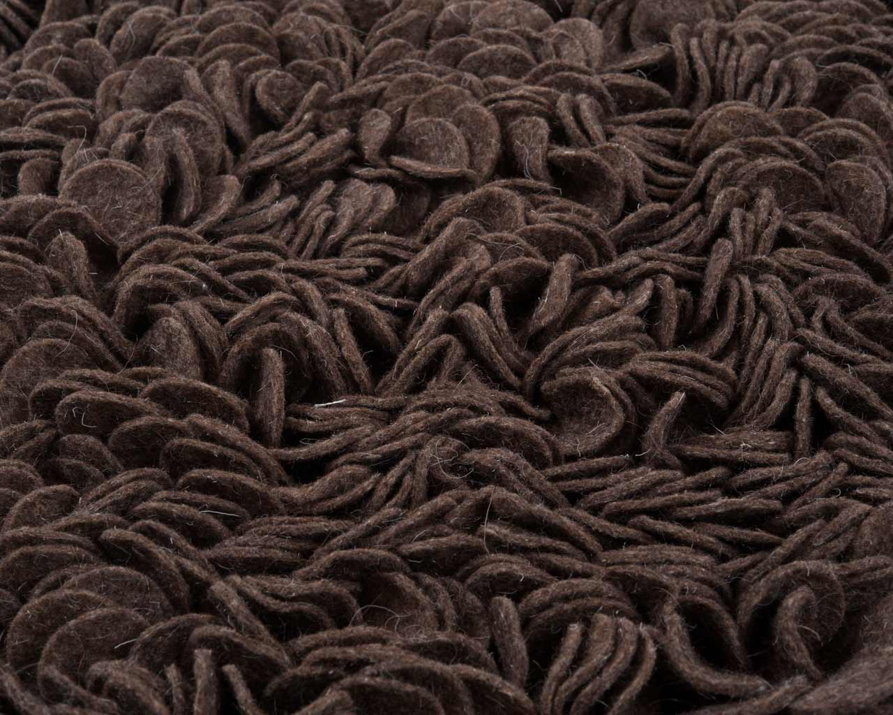 darker colours custom round rugs cut felted wool