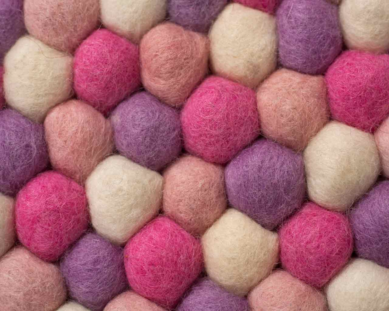 felt balls made from new zealand wool