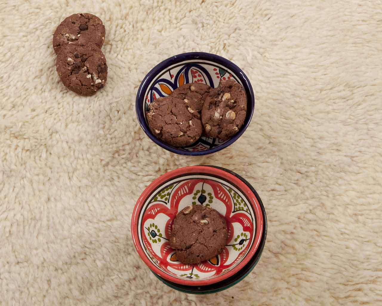 moroccan chocolate cookies bowls beni ourain 1