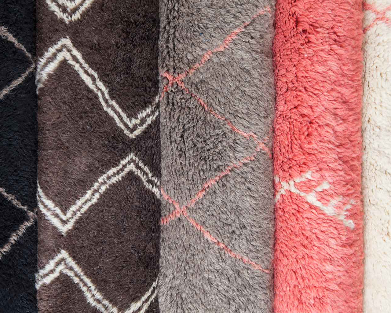 own colours berber carpets black white grey pink 1