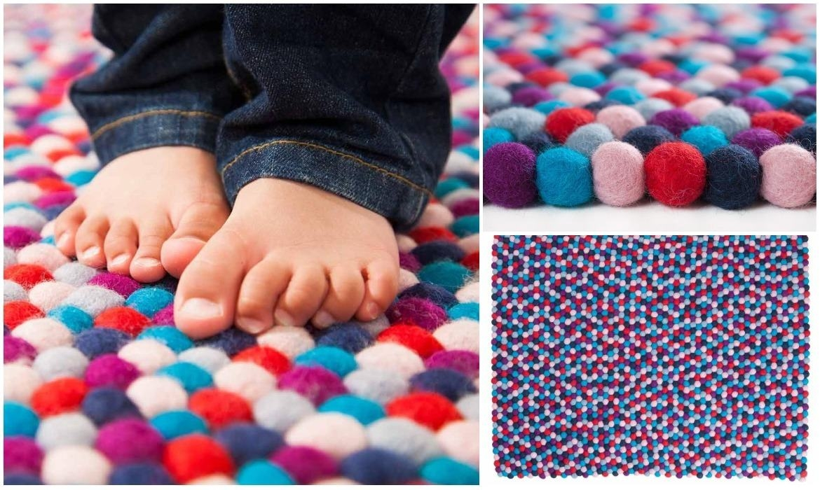 baby-feet-on-multicolored-felt-ball-rug